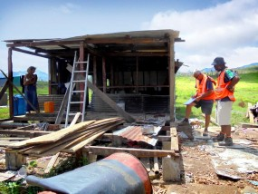 Fiji home devastated