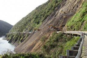 Manawatu Gorge Slip Ground level