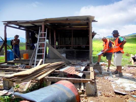 Fiji home devastated